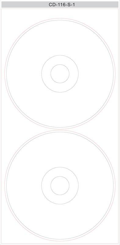 cd voorkant sjabloon